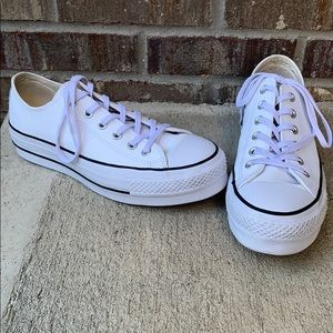 Converse lift leather white sneaker 9